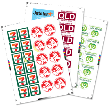 sticker labels in sheets