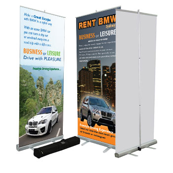 indoor pull up banner single side