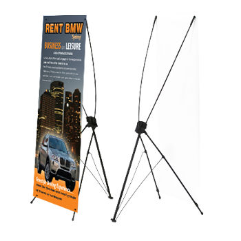 indoor x frame banners single side